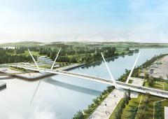 Clyde Waterfront Renfrew Riverside bridge